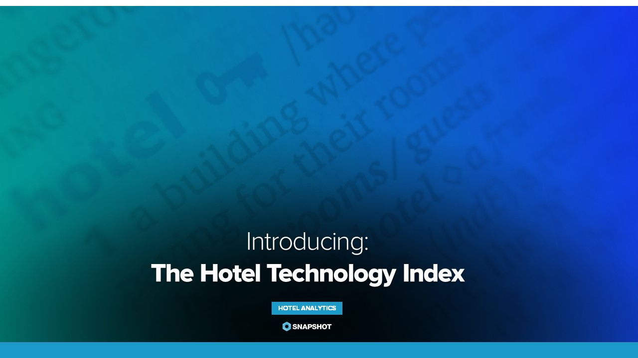 Introducing: The Hotel Technology Index