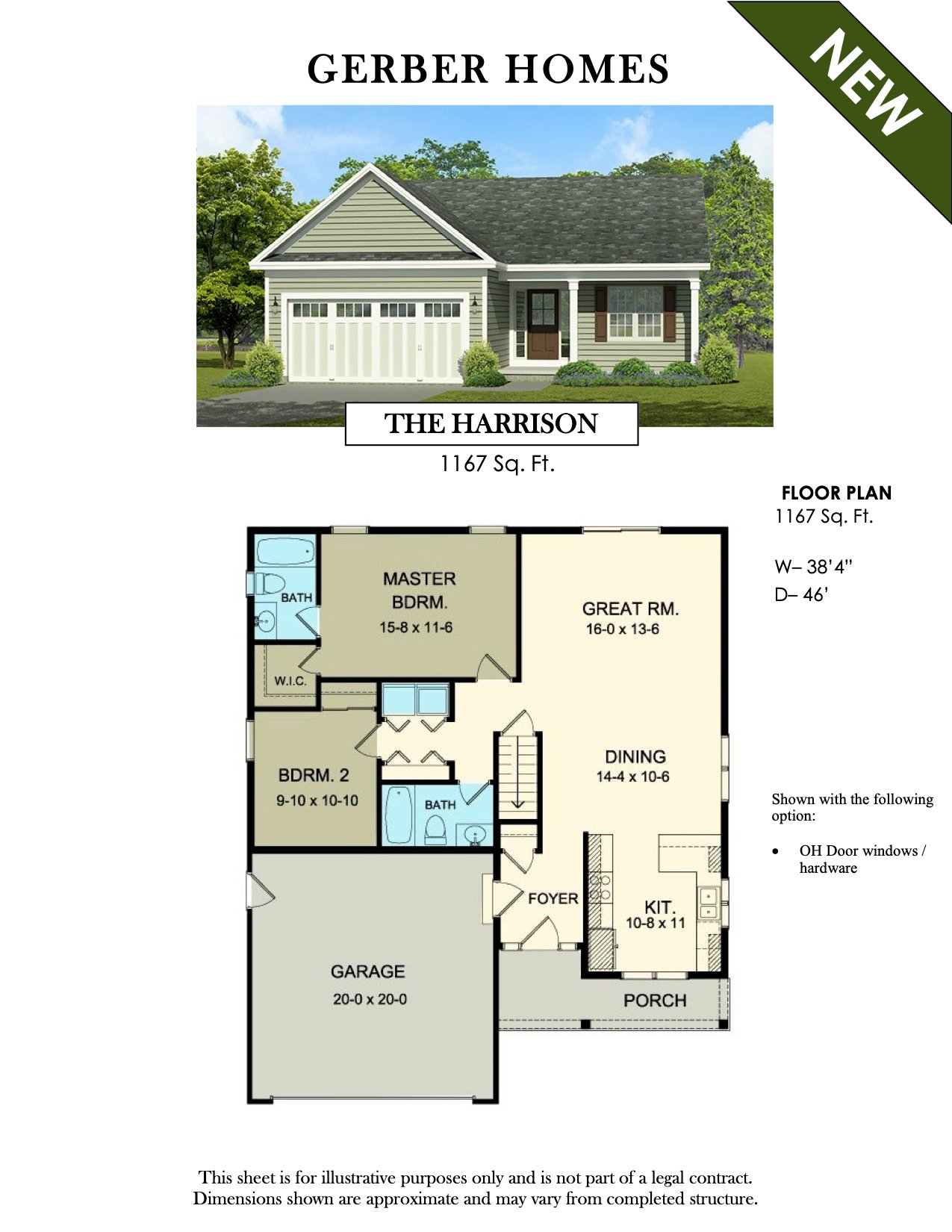 Gerber Homes | Floor Plans | Rochester NY