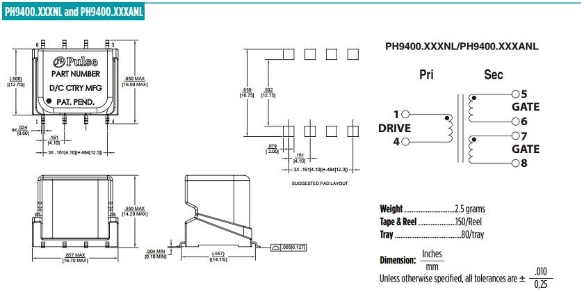 PH9400-mechanicals-schematics