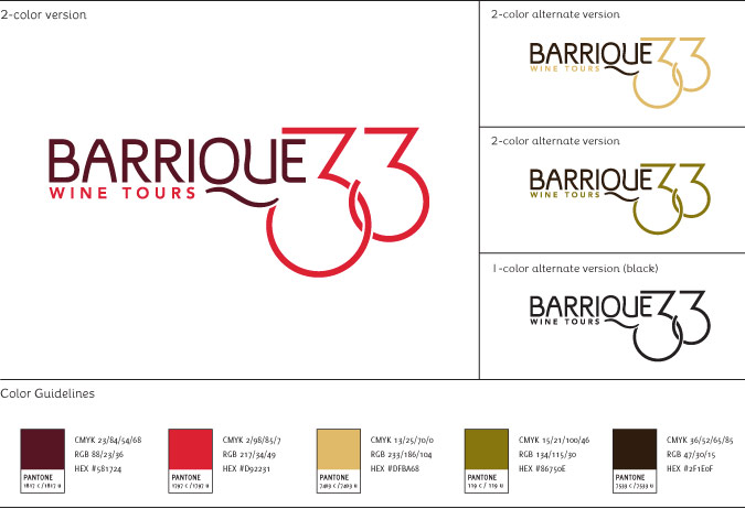 Barrique 33 Wine Tours Brand Identity