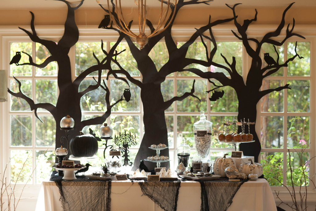end the witch hunt for the best halloween decorations with kraft paper - Halloween Tree Decorations