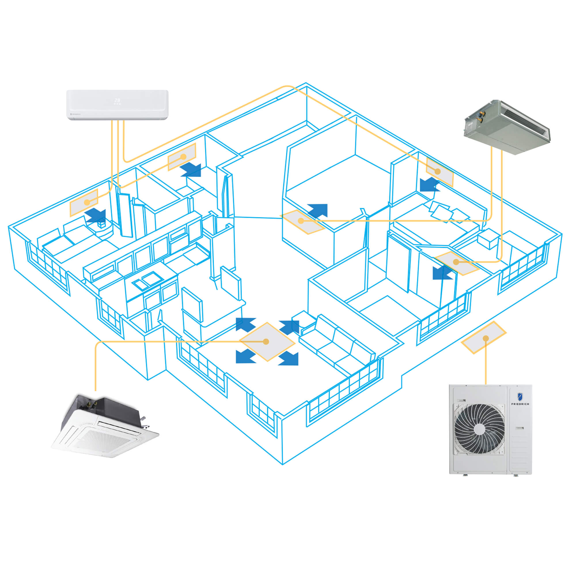 Residental Ductless Air Conditioners Systems | Friedrich on drilling diagram, electricians diagram, solar panels diagram, panel wiring icon, rslogix diagram, troubleshooting diagram, assembly diagram, installation diagram, plc diagram, instrumentation diagram, telecommunications diagram, grounding diagram,