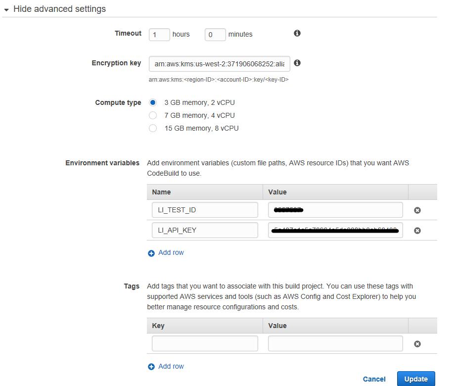 AWS CodeBuild Load Impact 7