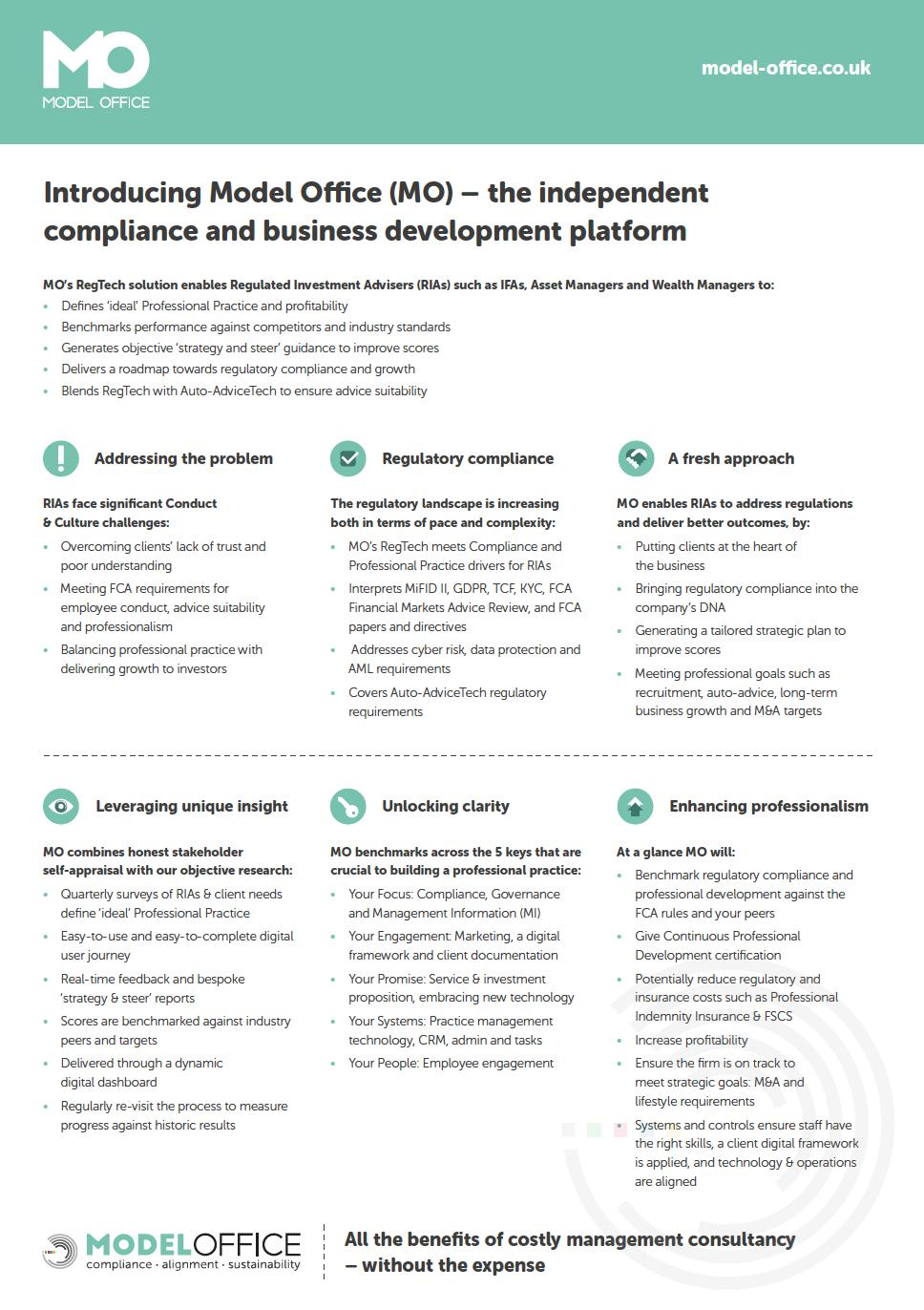 Model Office #RegTech platform Q2 question updates