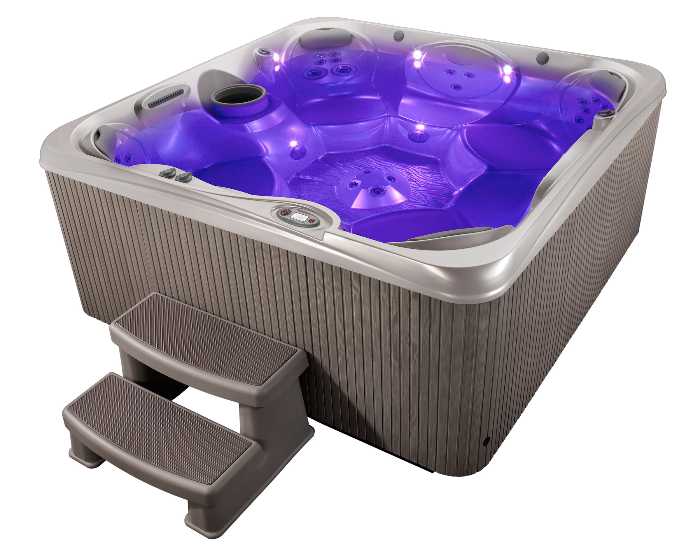 hot tubs and mood lighting