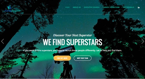 Furst Search website redesign