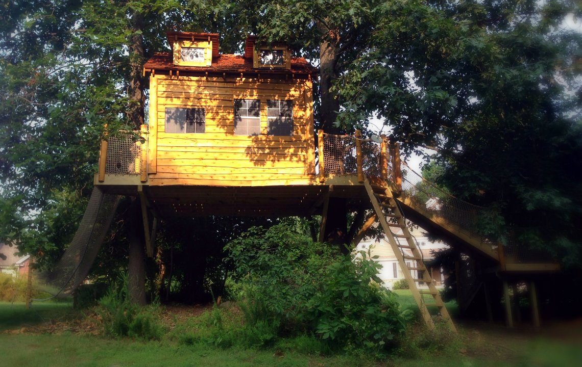 how to build your first treehouse