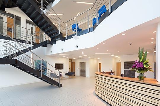 Inside of innovation center