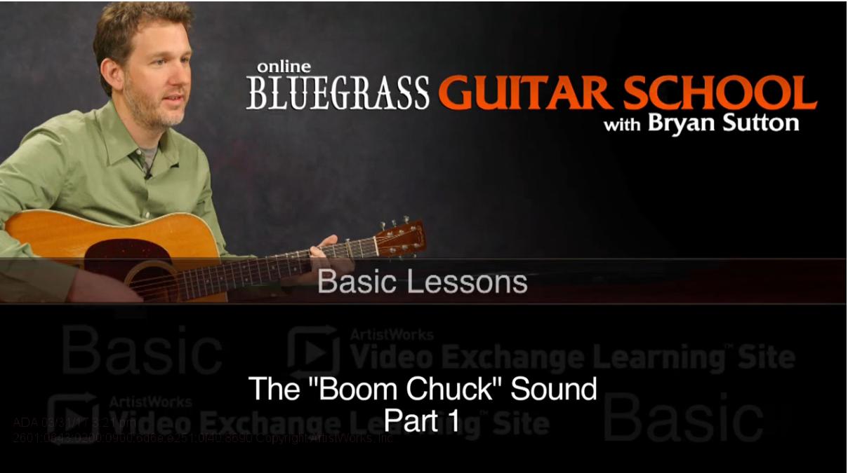 bluegrass guitar lesson: boom chuck sound