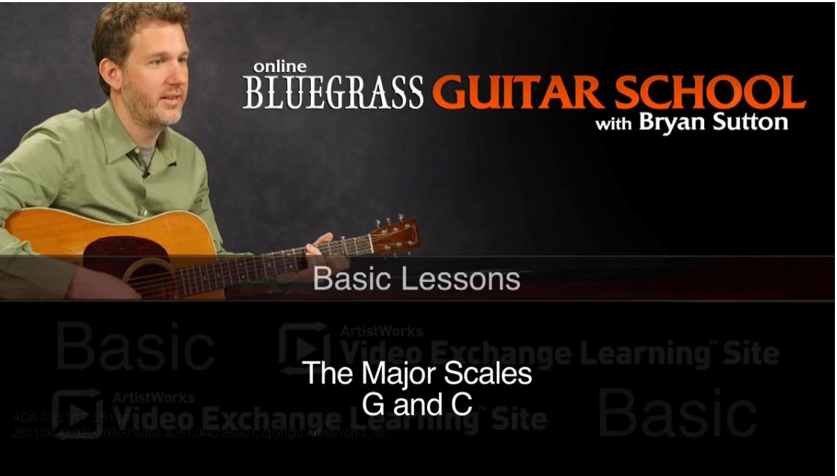 flatpicking guitar major scales