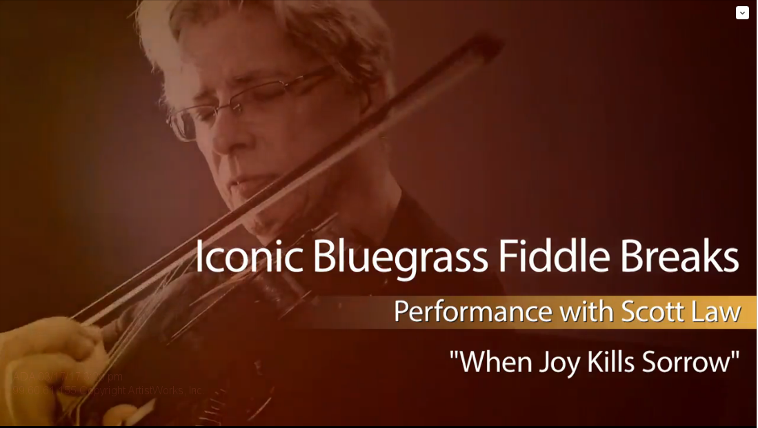 bluegrass fiddle breaks: joy kills sorrow