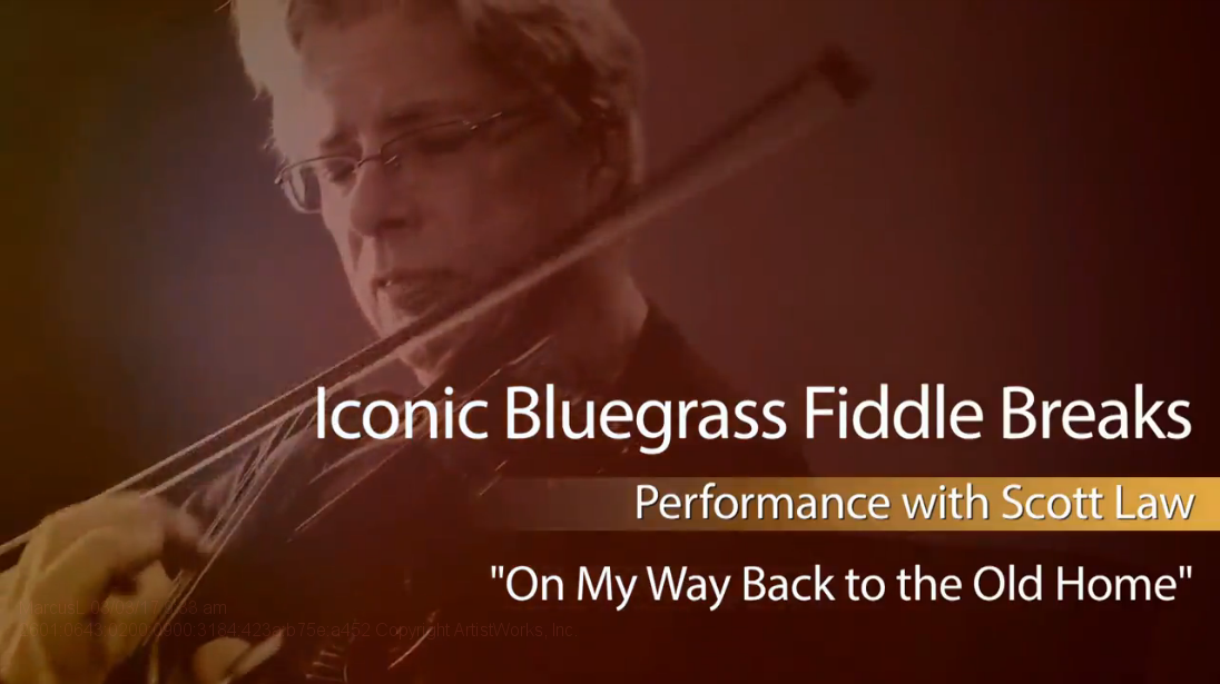 bluegrass fiddle breaks on my way back to the old home