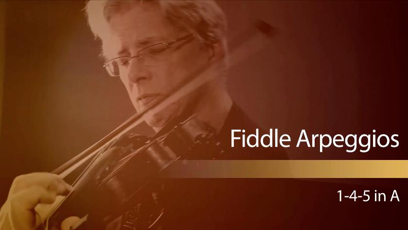 fiddle arpeggios: 1-4-5 in A