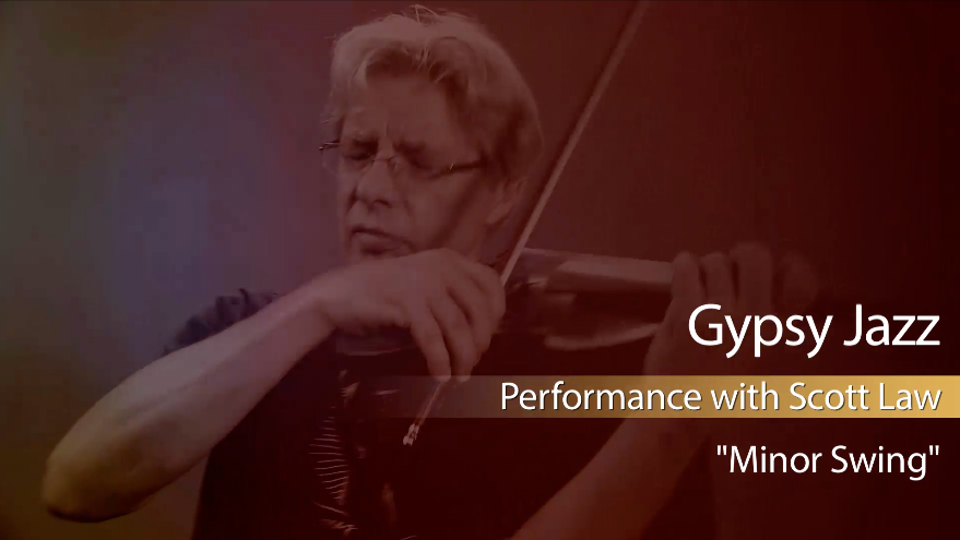 gypsy jazz fiddle lesson - minor swing