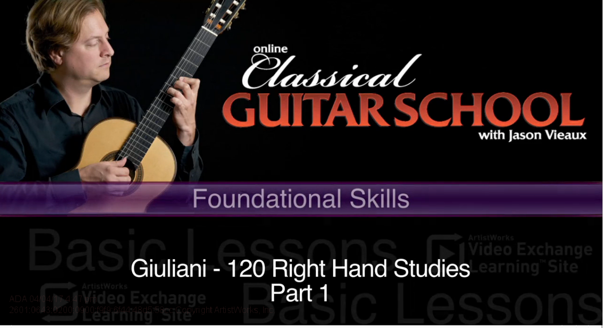 classical guitar giuliani right hand studies