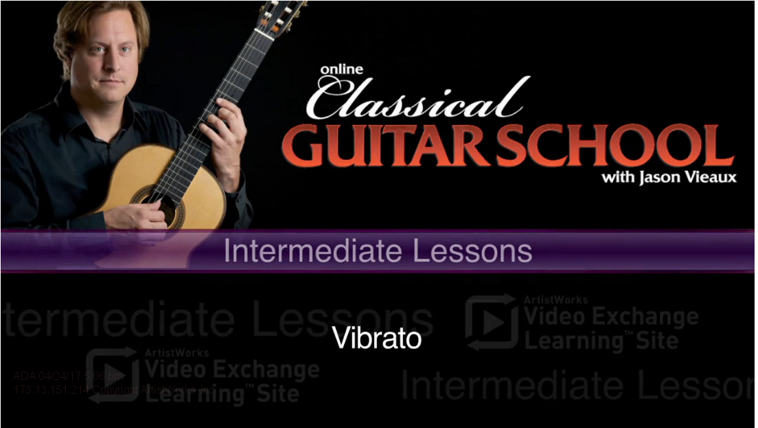 classical guitar lesson on vibrato from jason vieaux