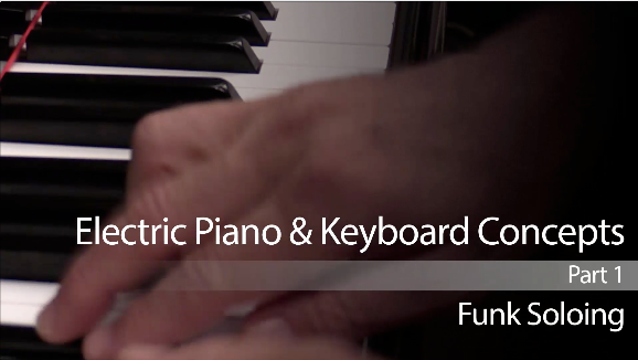 jazz keyboard lesson on funk soloing