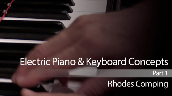 jazz keyboard lesson on rhodes comping