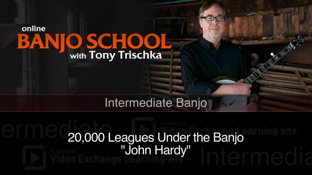 intermediate banjo lesson - john hardy