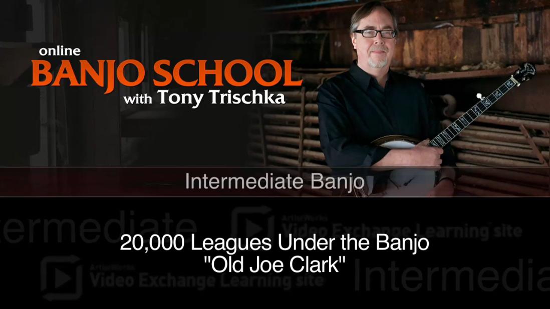 intermediate banjo lesson - old joe clark
