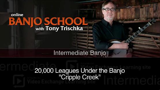 banjo lesson on cripple creek