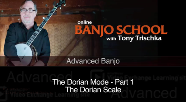 new banjo lesson on dorian mode