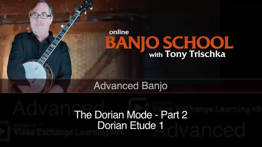banjo lesson on the dorian mode