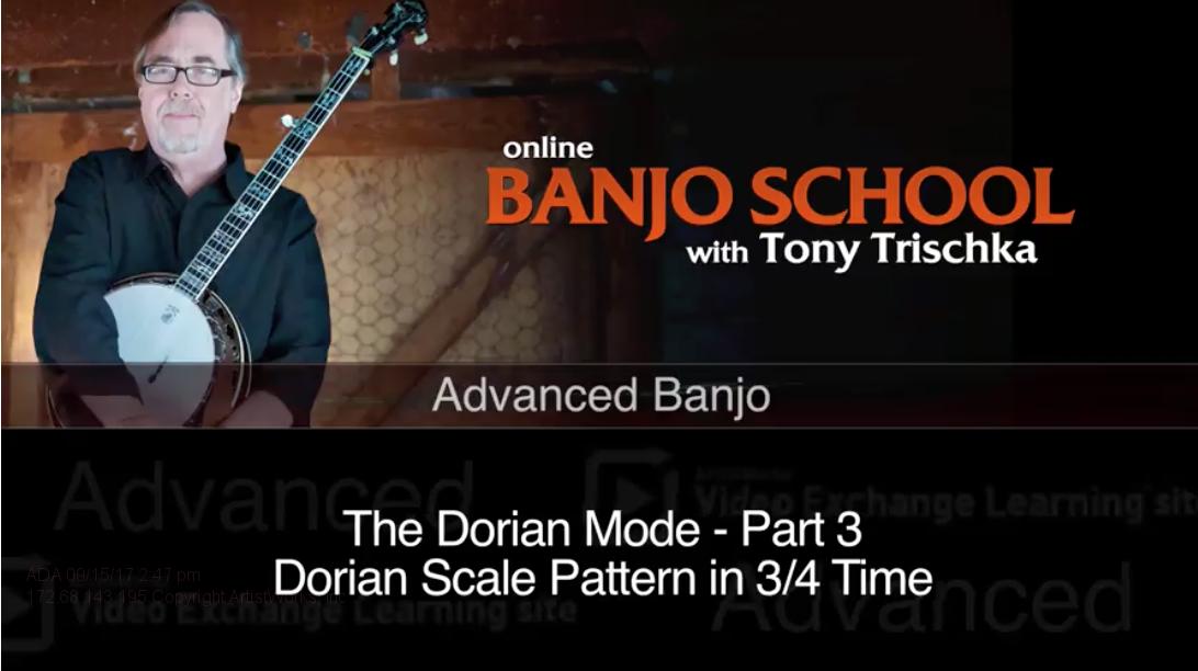 banjo lesson on the dorian mode