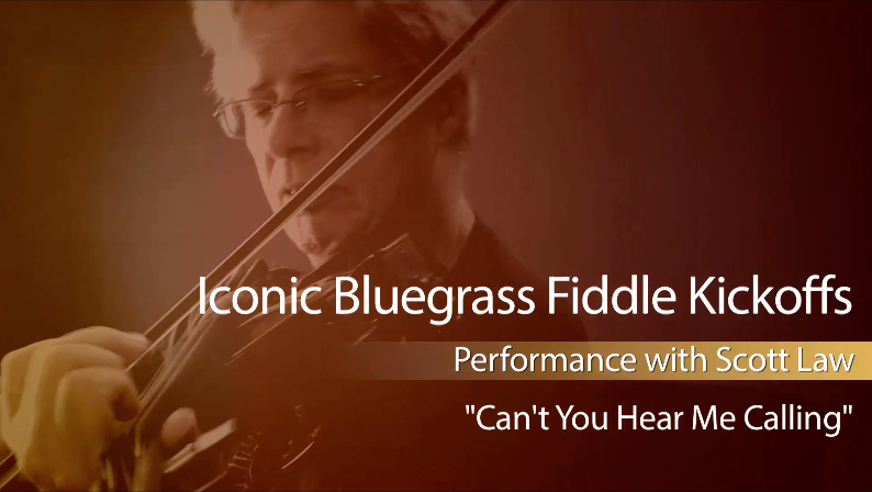bluegrass fiddle kickoffs - can't you hear me calling