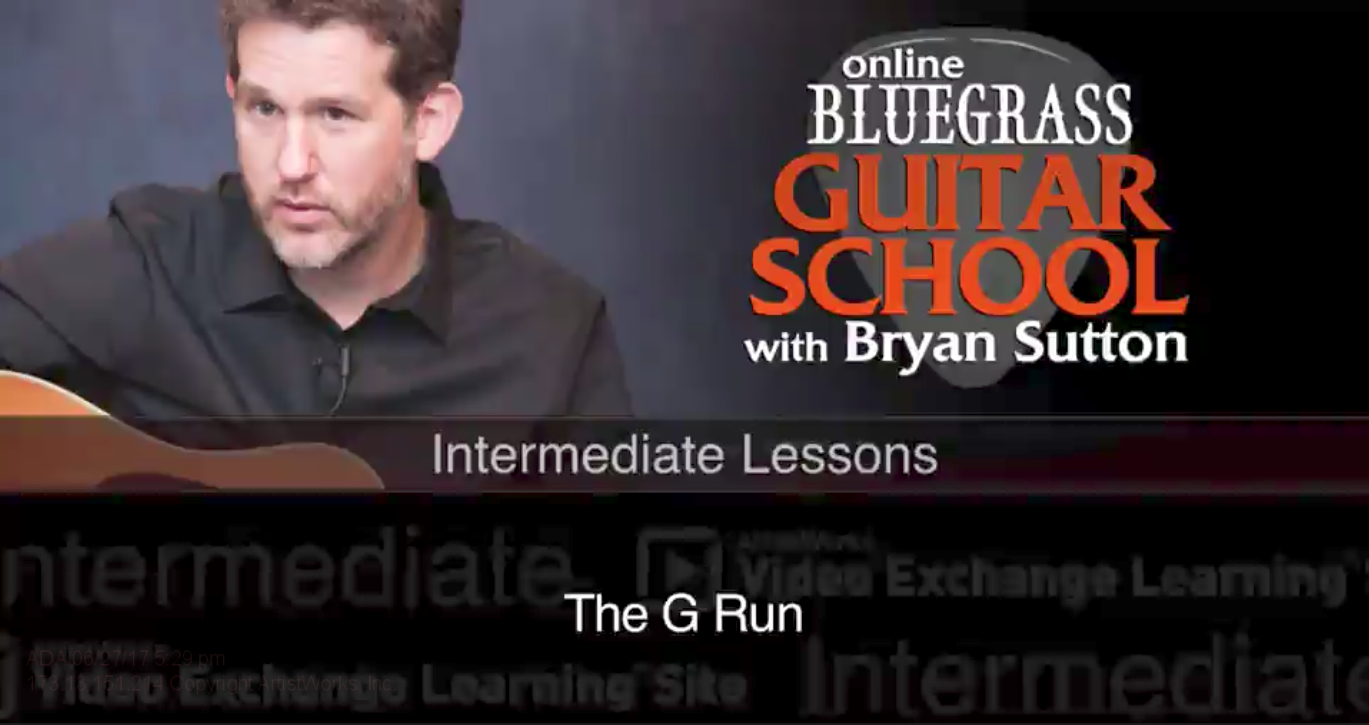 bluegrass guitar lessons free samples`