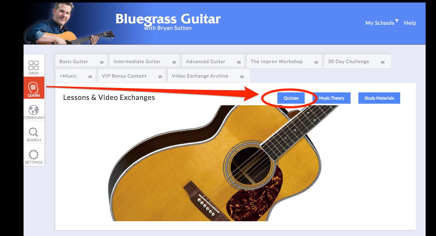 bluegrass guitar quiz