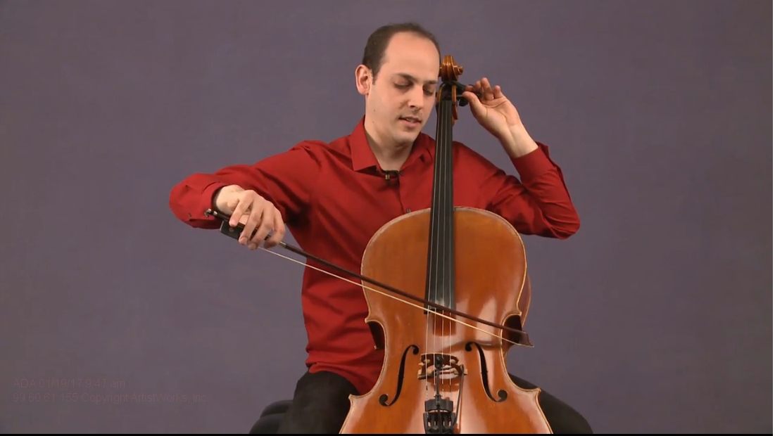 cello tuning with mike block