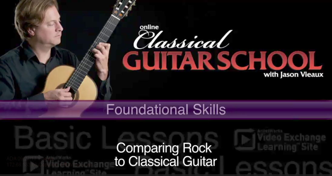 comparing classical guitar to rock