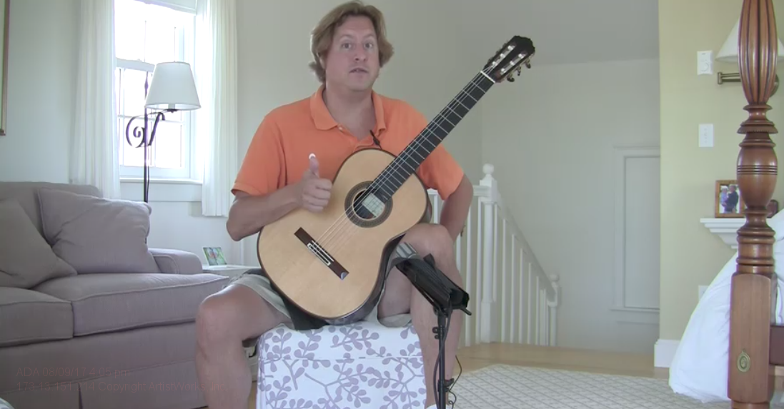 classical guitar video jason vieaux response