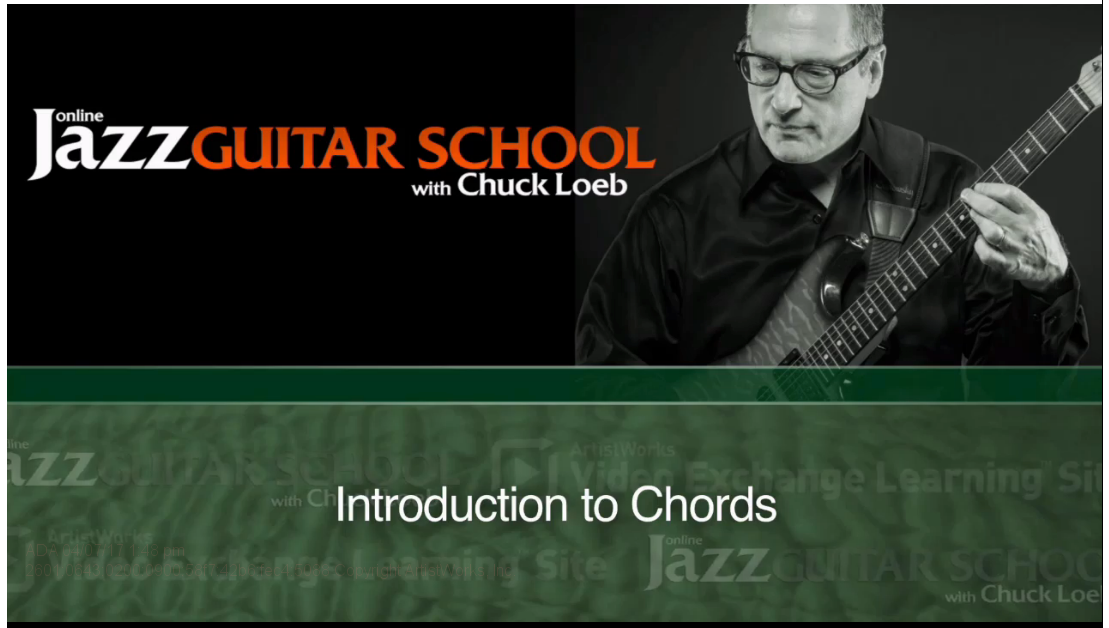 jazz guitar chords lesson from chuck loeb