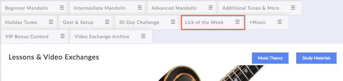 mandolin lessons: lick of the week