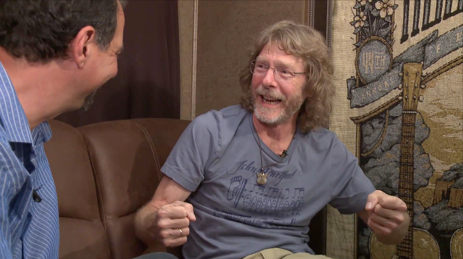 mike marshall interview with sam bush at RockyGrass 2016