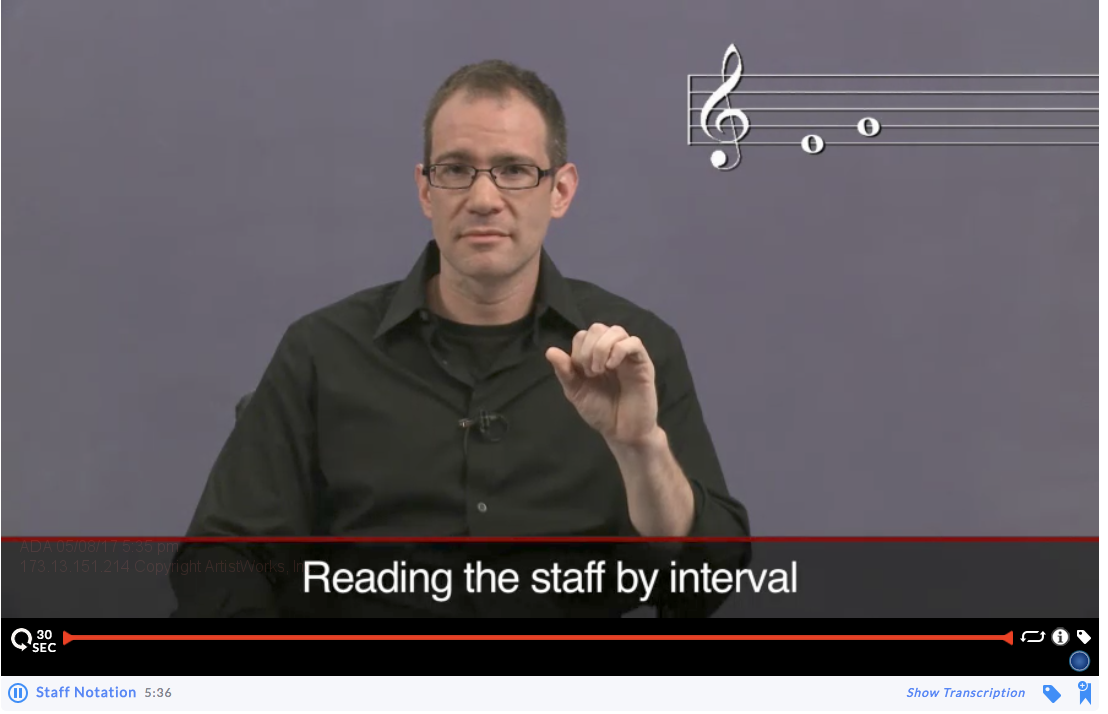 music theory lessons: staff notation