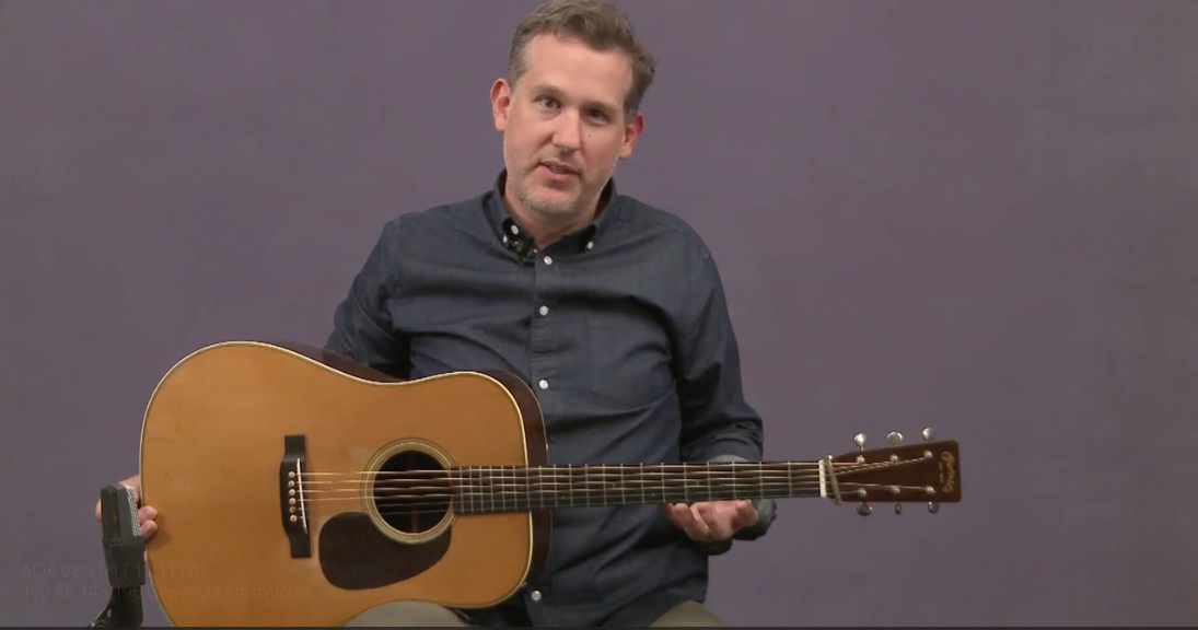 playing posture for flatpicking