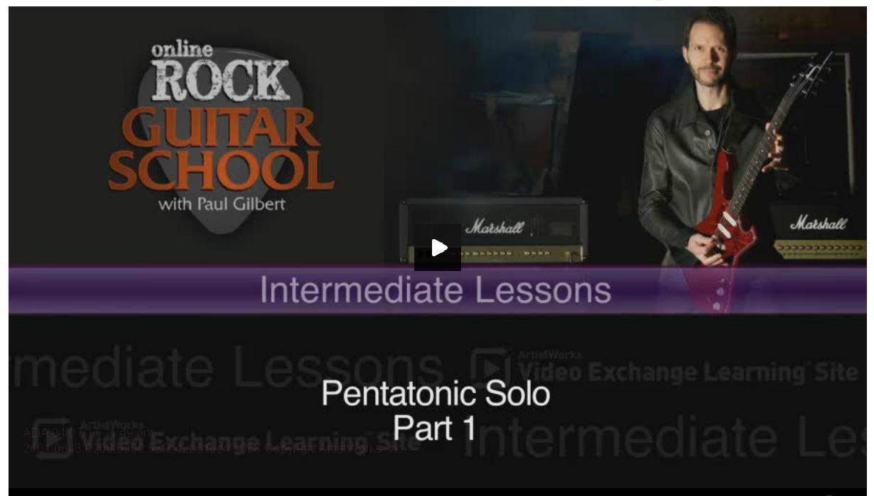 rock guitar lesson on pentatonic solo