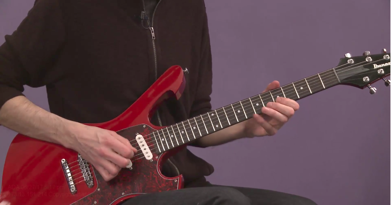 rock guitar pentatonic practice