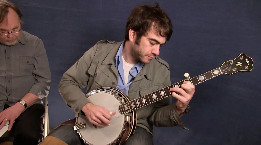 Tony Trischka talking banjo with Noam Pikelny