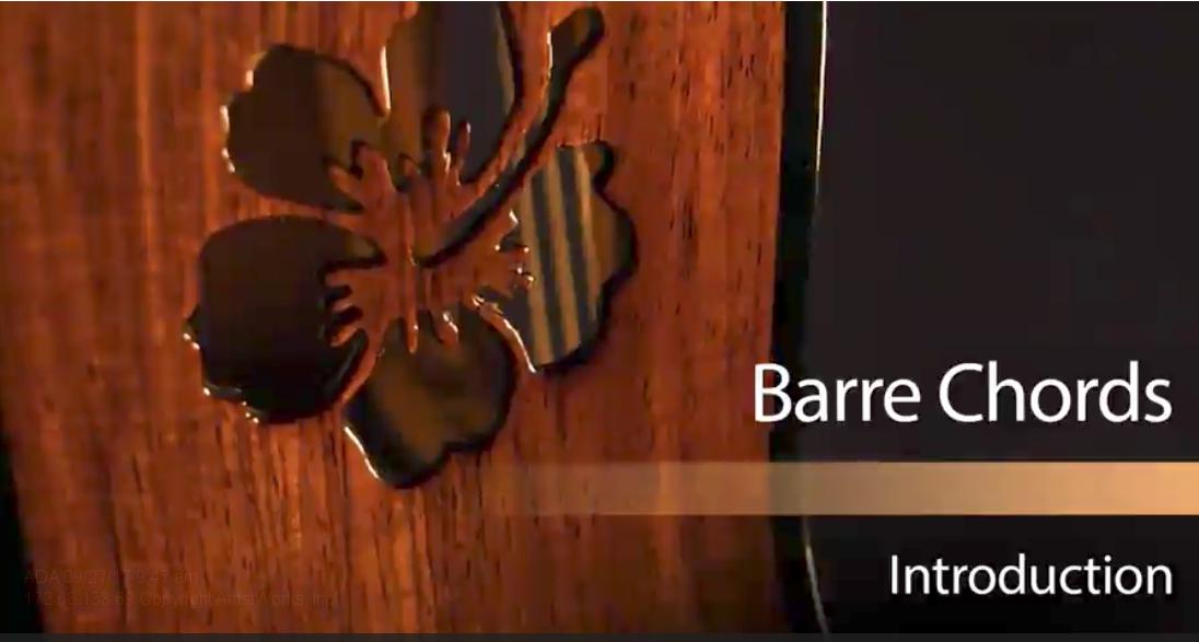 barre cords on ukulele