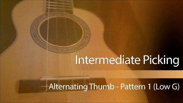 ukulele lesson on alternating thumb pattern picking low g