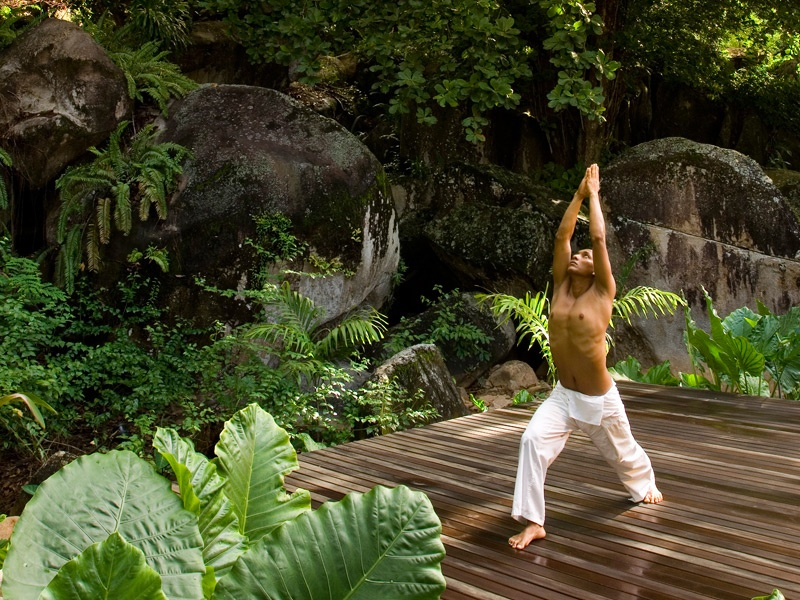 Guests are invited to join daily group sessions of Qi Gong and Hatha yoga in the natural surroundings of the spa, all to the soothing background sounds of birdsong and flowing water.