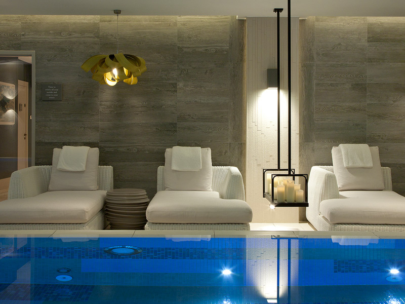 The House Spa at Dormy House features a pool room that twinkles with candlelight.