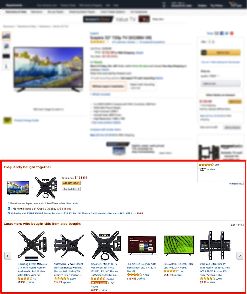 Amazon Cross-sell