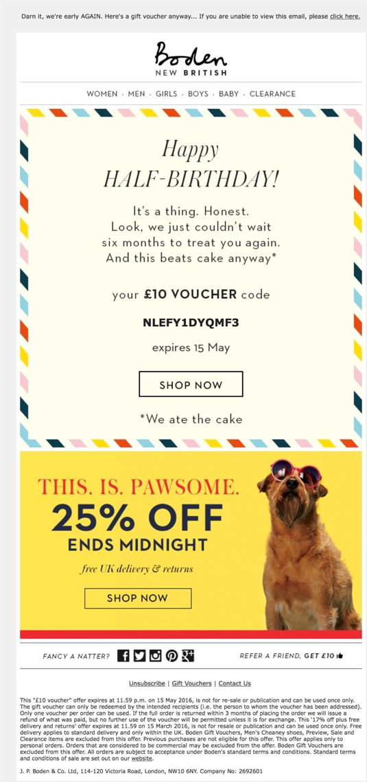Boden Ecommerce Marketing Email