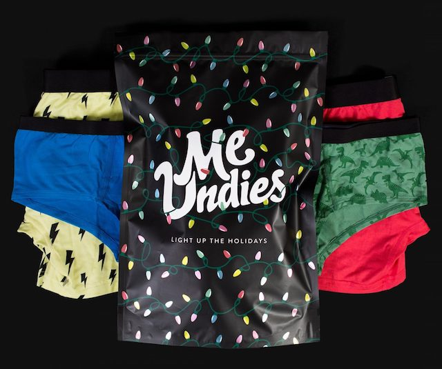 MeUndies Holiday Packaging