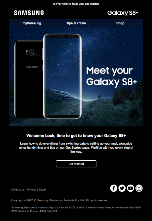 Samsung Australia Ecommerce Marketing Email